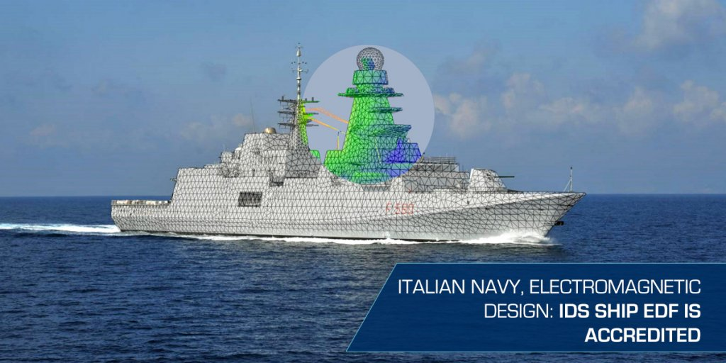 Italian Navy - Electromagnetic EME Design IDS Ship EDF is accredited_rev.2